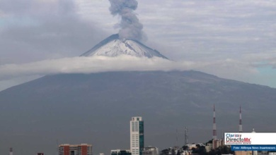 Photo of Registra volcán Popocatépetl explosión moderada y ligera incandescencia