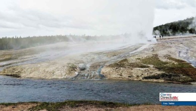Photo of Inusual actividad geotermal del Steamboat Geyser en Yellowstone