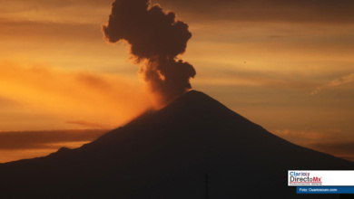 Photo of 4 explosiones en el volcán Popocatépetl