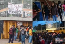 Photo of Protestas pro-Chile llegan a la UNAM, alumnos protestan vs porros
