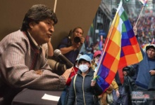 Photo of Exhiben audio de  Evo Morales, coordinando manifestaciones en Bolivia