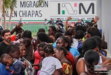 Photo of Caravana migrante llega a la frontera en Chiapas y chocan con Guardia Nacional