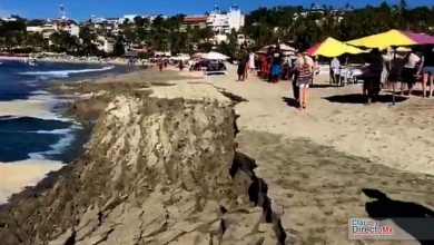 Photo of Pleamar el fenómeno que se comió la playa en Puerto Escondido
