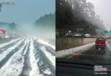 Photo of Tarde de granizo en la México-Toluca, generó accidentes viales y larga fila de autos
