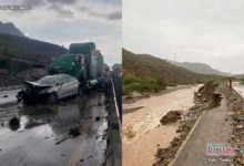 Photo of Lluvias dejan deslaves y accidentes en la autopista  Monterrey-Saltillo y daños en carreteras de Sonora